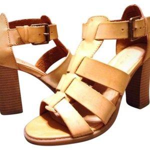 Apt 9 Tan Stacked Heel Sandal